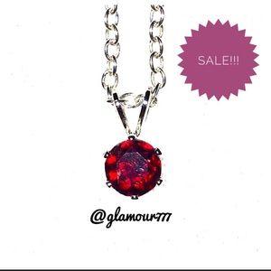 Jewelry - Necklace: 🔥2/$20 Garnet Pendant w/Chain.